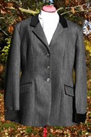 My Ladies' Tweed Jacket with Velvet Trim, Made in England by Bookster