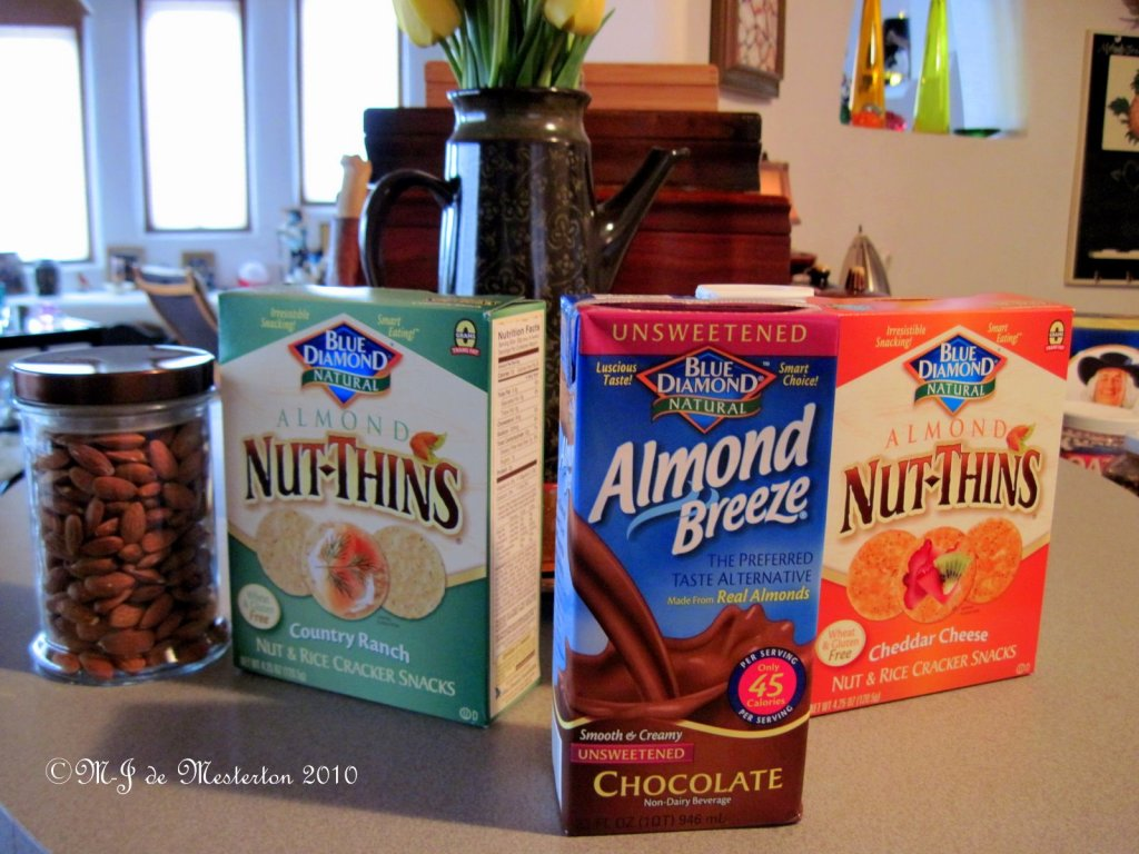 Low-Carbohydrate Nut Thins and Almond Breeze by Blue Diamond of California