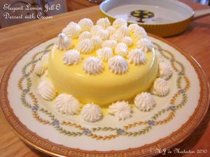 Elegant Jell-O Dessert with Cream