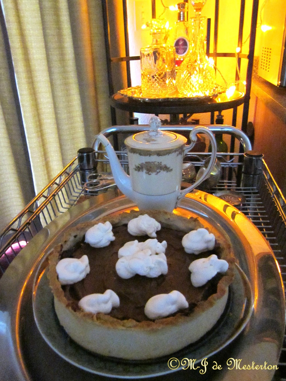 Chocolate Mousse Pie with Short Crust and Whipped Cream ©M-J de Mesterton 2015